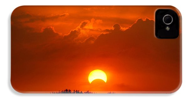 Solar Eclipse IPhone 4 Case by Bill Pevlor