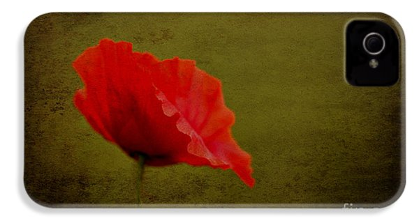IPhone 4 Case featuring the photograph Solitary Poppy. by Clare Bambers