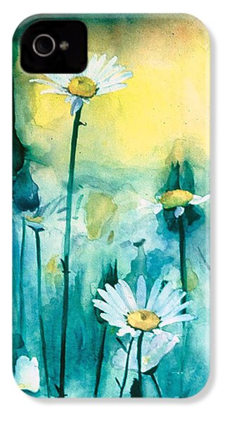 Splash Of Daisies IPhone 4 Case by Cyndi Brewer