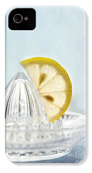 Still Life With A Half Slice Of Lemon IPhone 4 Case by Priska Wettstein