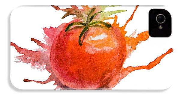 Stylized Illustration Of Tomato IPhone 4 Case