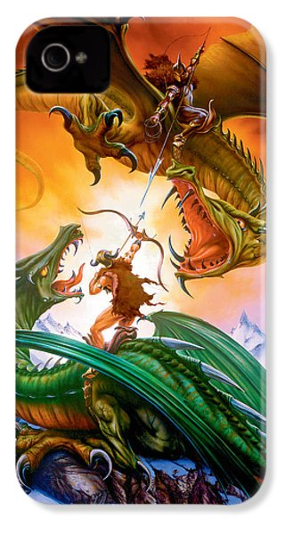 The Duel IPhone 4 Case by The Dragon Chronicles