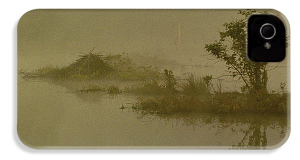 The Lodge In The Mist IPhone 4 Case by Skip Willits