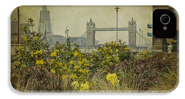 IPhone 4 Case featuring the photograph Tower Bridge In Springtime. by Clare Bambers