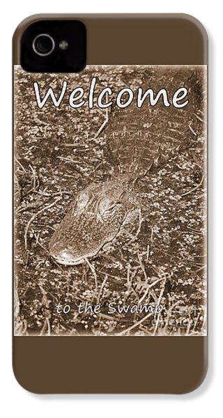 Welcome To The Swamp - Sepia IPhone 4 Case