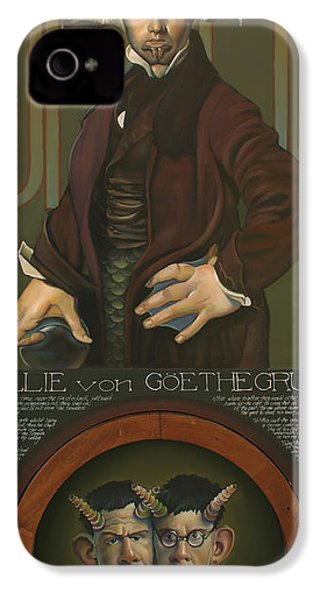 Willie Von Goethegrupf IPhone 4 Case by Patrick Anthony Pierson