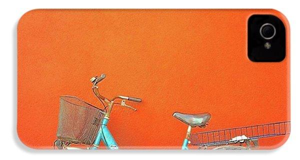 Blue Bike In Burano Italy IPhone 4 Case by Anne Hilde Lystad
