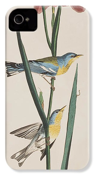 Blue Yellow-backed Warbler IPhone 4 / 4s Case by John James Audubon