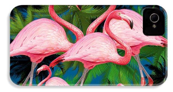 Flamingo IPhone 4 Case by Mark Ashkenazi