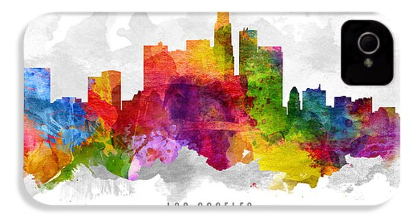 Los Angeles California Cityscape 13 IPhone 4 Case by Aged Pixel