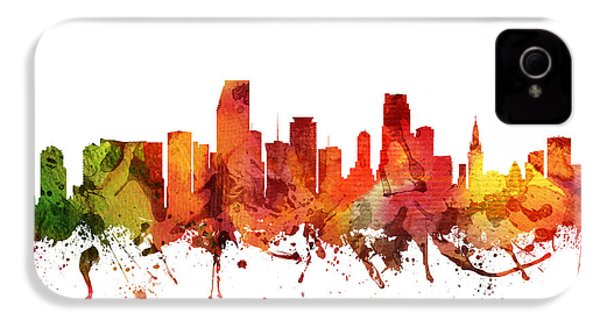 Miami Cityscape 04 IPhone 4 Case by Aged Pixel