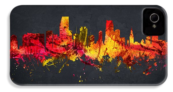 Miami Cityscape 07 IPhone 4 Case