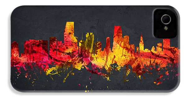 Miami Cityscape 07 IPhone 4 Case by Aged Pixel