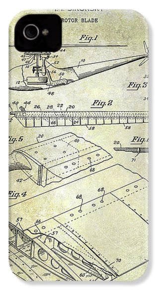 1949 Helicopter Patent IPhone 4 Case by Jon Neidert