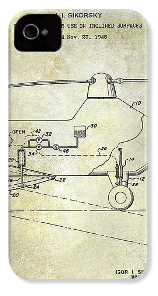 1953 Helicopter Patent IPhone 4 Case by Jon Neidert