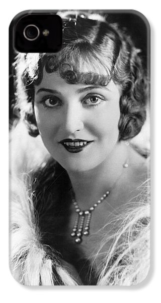 Actress Agnes Ayres IPhone 4 Case by Underwood Archives
