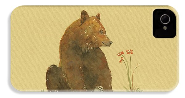 Alaskan Grizzly Bear IPhone 4 Case by Juan Bosco