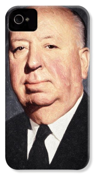 Alfred Hitchcock IPhone 4 Case by Taylan Apukovska