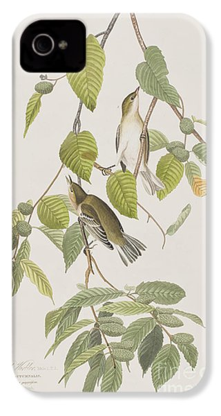 Autumnal Warbler IPhone 4 Case by John James Audubon