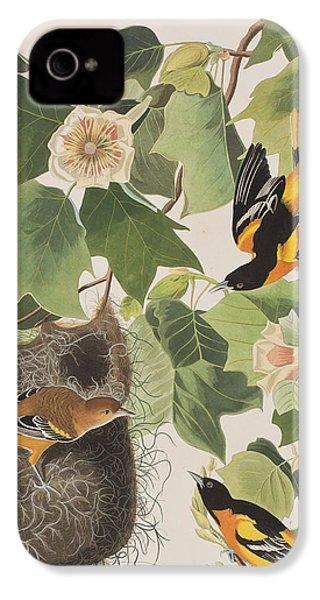 Baltimore Oriole IPhone 4 Case by John James Audubon