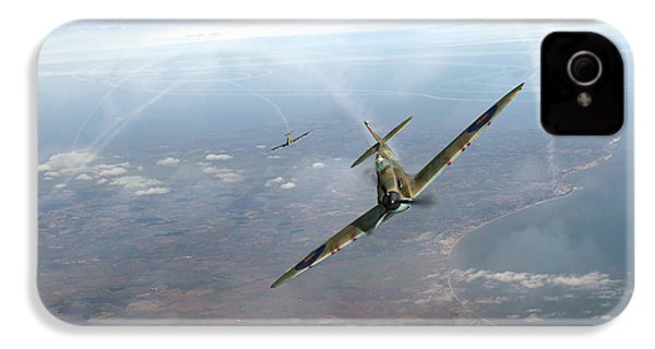IPhone 4 Case featuring the photograph Battle Of Britain Spitfires Over Kent by Gary Eason
