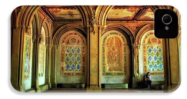 IPhone 4 Case featuring the photograph Bethesda Terrace Arcade by Jessica Jenney
