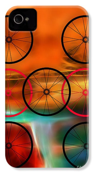 Bicycle Wheel Collection IPhone 4 Case by Marvin Blaine