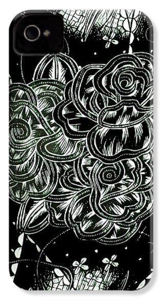 Black Flower IPhone 4 Case