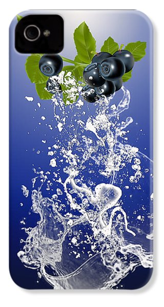 Blueberry Splash IPhone 4 Case by Marvin Blaine