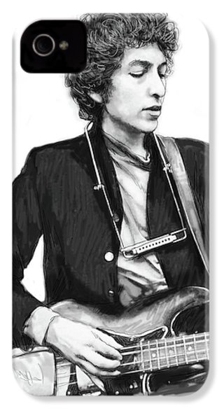 Bob Dylan Drawing Art Poster IPhone 4 / 4s Case by Kim Wang