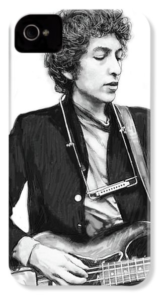 Bob Dylan Drawing Art Poster IPhone 4 Case by Kim Wang