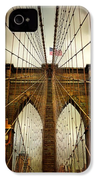 Brooklyn Bridge Twilight IPhone 4 Case by Jessica Jenney