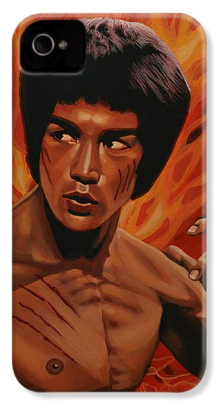 Bruce Lee Enter The Dragon IPhone 4 Case by Paul Meijering