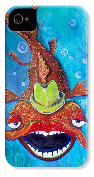 Catfish Clyde IPhone 4 Case by Vickie Scarlett-Fisher