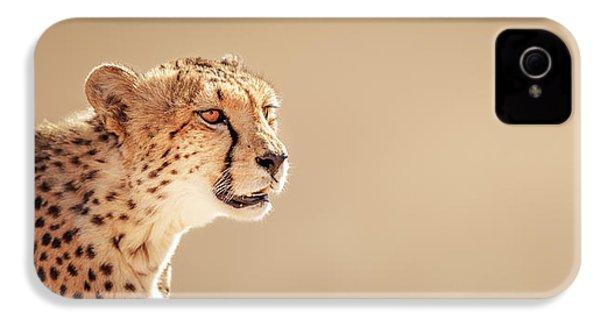 Cheetah Portrait IPhone 4 Case