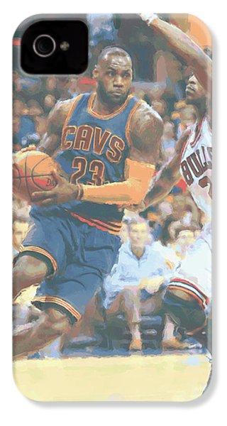 Cleveland Cavaliers Lebron James 2 IPhone 4 / 4s Case by Joe Hamilton