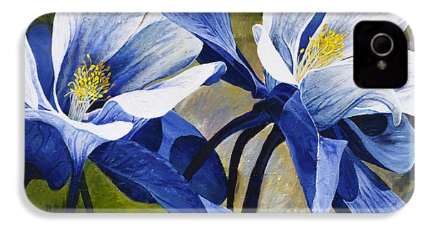 Colorado Columbines IPhone 4 Case by Aaron Spong