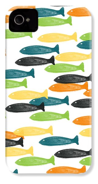 Colorful Fish  IPhone 4 / 4s Case by Linda Woods