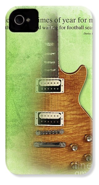 Darius Rucker Inspirational Quote, Electric Guitar Poster For Music Lovers And Musicians IPhone 4 / 4s Case by Pablo Franchi