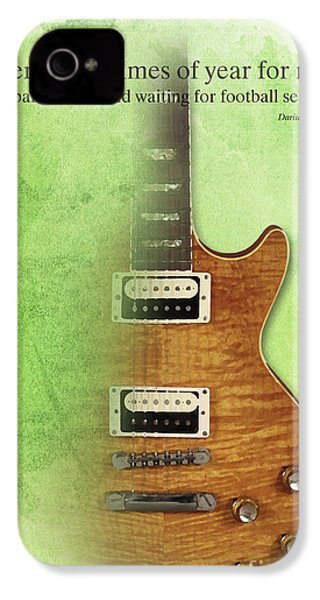 Darius Rucker Inspirational Quote, Electric Guitar Poster For Music Lovers And Musicians IPhone 4 Case