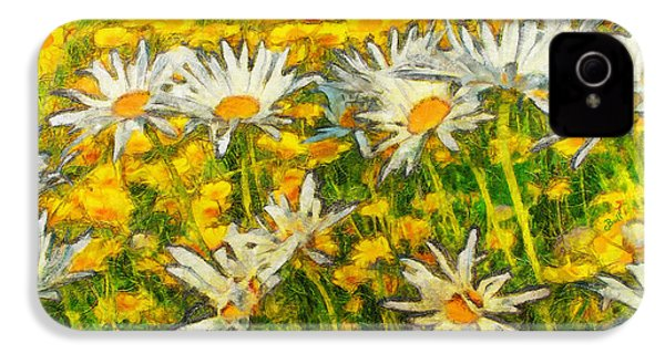 Field Of Daisies IPhone 4 Case by Claire Bull