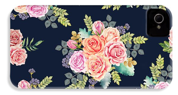 Floral Pattern 1 IPhone 4 / 4s Case by Stanley Wong
