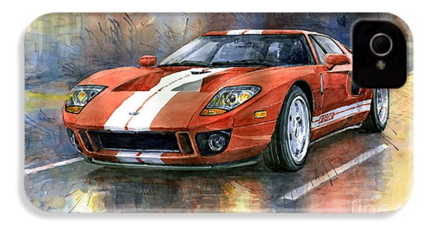 Ford Gt 40 2006  IPhone 4 Case by Yuriy  Shevchuk