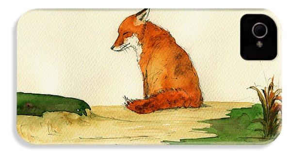 Fox Sleeping Painting IPhone 4 / 4s Case by Juan  Bosco