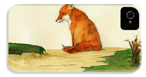 Fox Sleeping Painting IPhone 4 Case