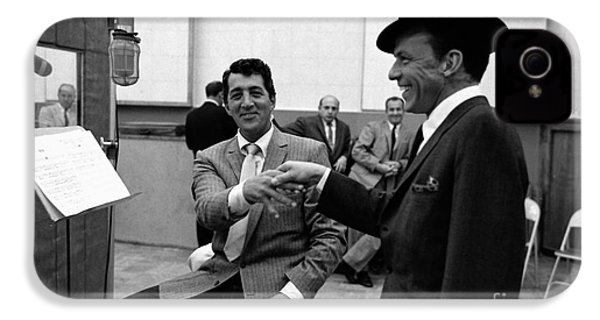 Frank Sinatra And Dean Martin At Capitol Records Studios 1958. IPhone 4 / 4s Case by The Titanic Project