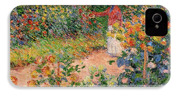 Garden At Giverny IPhone 4 Case by Claude Monet