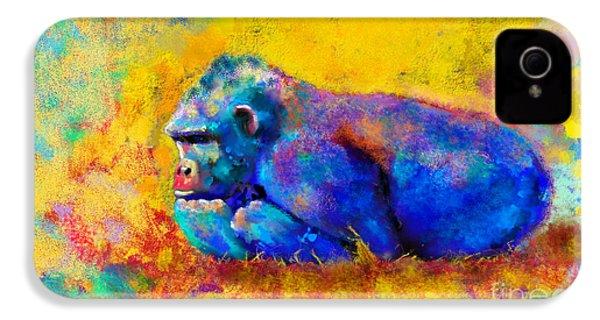 Gorilla Gorilla IPhone 4 Case by Betty LaRue