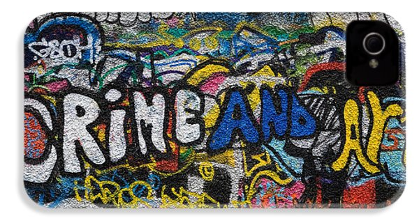 Grafitti On The U2 Wall, Windmill Lane IPhone 4 Case by Panoramic Images
