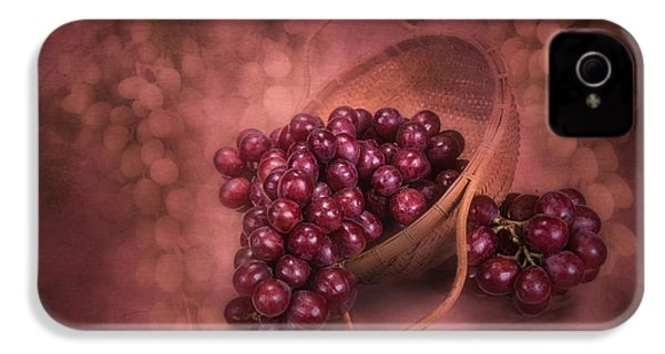 Grapes In Wicker Basket IPhone 4 Case